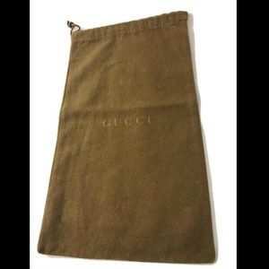 "Gucci Dust Bag Storage Cover Pouch 14.3"" X 8.2"""